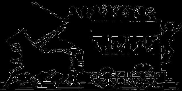 carrozza trainata da cavalli